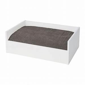 Ikea Lit En Hauteur : lurvig lit chat chien avec coussin blanc gris ikea ~ Teatrodelosmanantiales.com Idées de Décoration