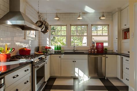 hanging pot rack kitchen traditional with blue backsplash