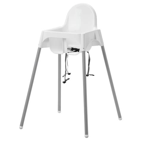 chaises hautes ikea antilop highchair with safety belt white silver colour ikea