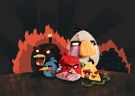 angry birds zombie monsters