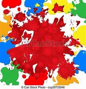 Tache De Couleur Peinture Fond Blanc : dessin de tache couleur vibrant peinture toile de fond spectacles csp20733046 ~ Melissatoandfro.com Idées de Décoration