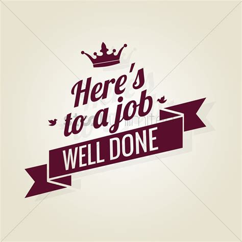 Well Done Images Free Well Done Ribbon Vector Image 1603666