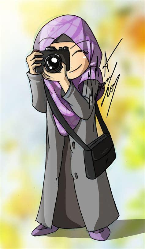 hijab animasi images  pinterest