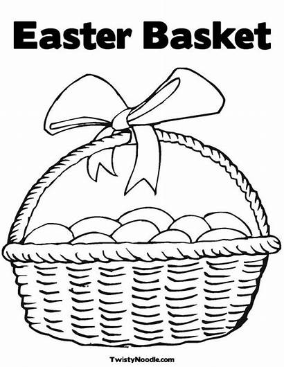 Easter Coloring Pages Christian Basket Printable Eggs