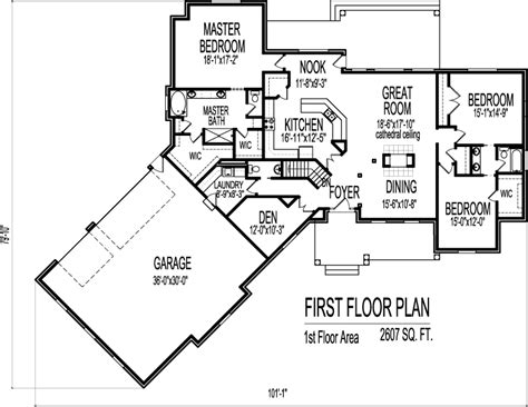 ranch style house plans with walkout basement ranch house floor plans with angled garage 2500 sq ft