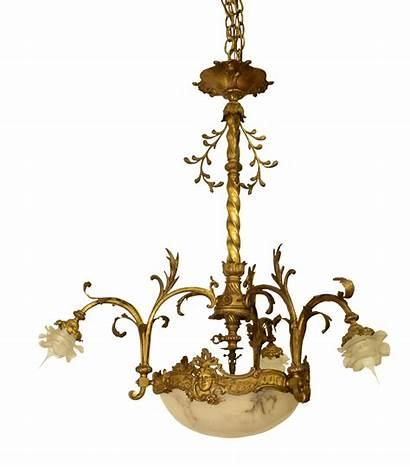 Chandeliers Chandelier Antique Alabaster Glass French Century