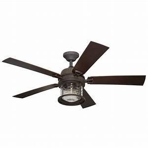 Ceiling fans light kit : Allen roth stonecroft in rust downrod or close