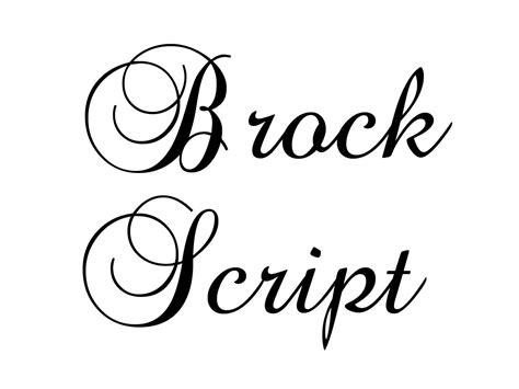 Font Squirel Brock Script Da Font