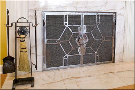 modern fireplace screens modern fireplace doors plan ideas door stair design