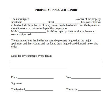 handover report template  documents   word