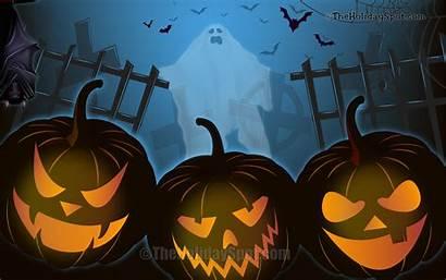 Halloween Wallpapers Laptop Ghost Pumpkins Night Pc