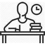 Homework Icon Study Desk Student Transparent Write