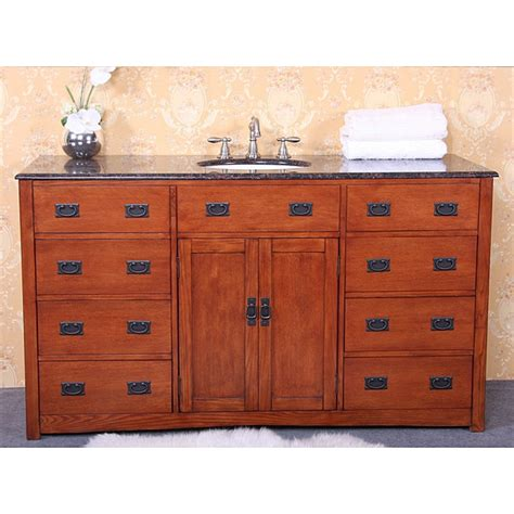 Bathroom Vanities 60 Inches Sink by Granite Top 60 Inch Single Sink Bathroom Vanity Free