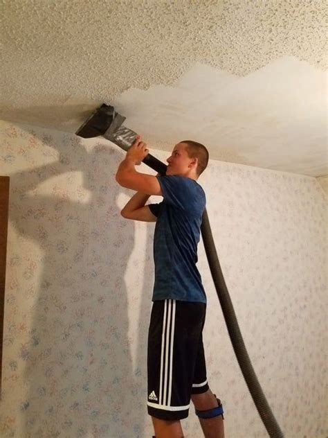 popcorn ceiling removal tool removing popcorn ceiling