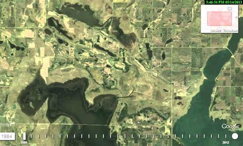 devils lake  google timelapse satellite loop