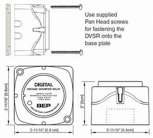 Bep Marinco Dvsr - 12 Volt And 24 Volt - Digital Voltage Sensing Relay - 140 Amp