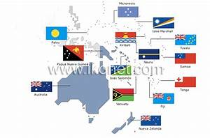sociedad > política > banderas > Oceanía y Polinesia imagen Diccionario Visual