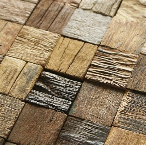 Wood Wall Tiles by Wood Mosaic Tile Rustic Wood Wall Tiles Nwmt002