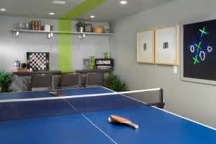 stunning family room with blue ping pong table olpos design