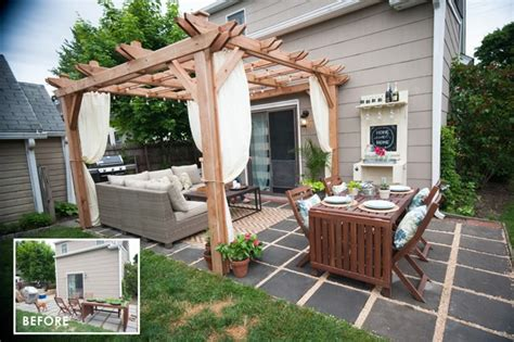 Cheap Backyard Makeover by Outdoor Living Room Makeover For Small Spaces With Lowes