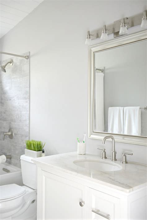 Modern Bathroom Budget by Guest Bathroom Update On A Budget Hello Splendid