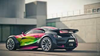 Citroen Survolt Art Car Created by Francoise Nielly ...