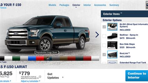 2015 Ford F 150 configurator is ready to go to work   Autoblog