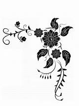 Corner Flower Coloring Rangoli Pages Diwali Clipart Designs Drawing Cliparts Floral Colouring Clip Library Getdrawings Sheets Arts sketch template