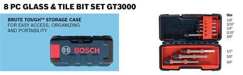 bosch gt3000 glass and tile set 8 jobber drill