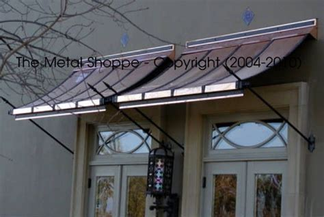 copper awnings  double doors copper awning double front entry doors awning  door