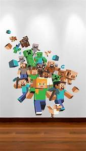 Xbox games minecraft and wall stickers on pinterest for Awesome minecraft vinyl wall decals