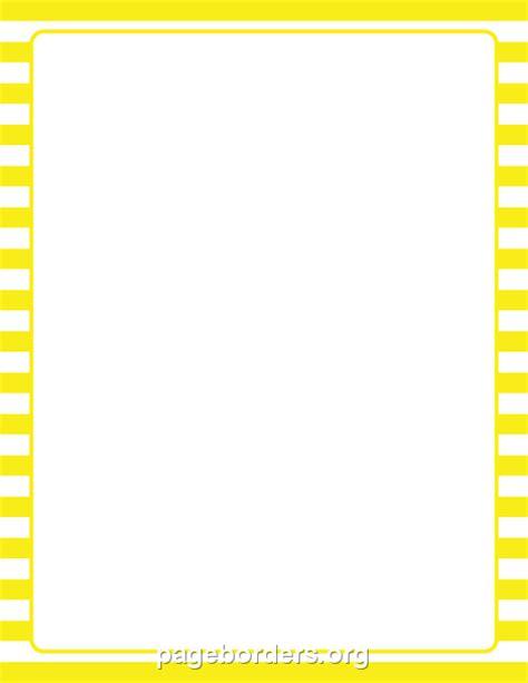 yellow  white striped border clip art page border