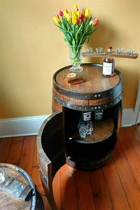 Whiskey Designs Whiskey Barrel Liquor Cabinet Handcrafted From A