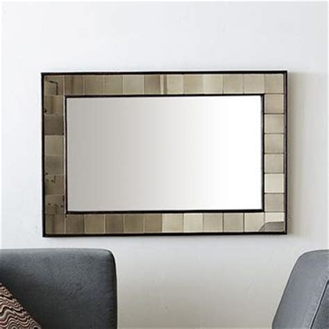 Tiled Capiz Wall Mirror   west elm