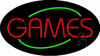 Neon Sign Games Signs Flashing