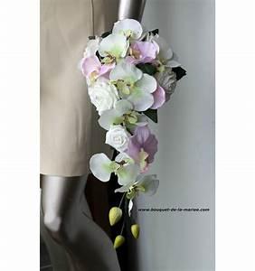 Bouquet De La Mariée : bouquet mariage cascade ivoire et rose tendre avec roses ~ Melissatoandfro.com Idées de Décoration