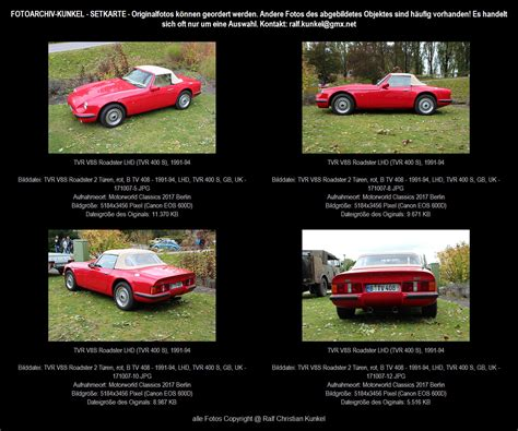 Tvr V8s Roadster 2 Tren Rot Bauzeit 1991 94 Lhd