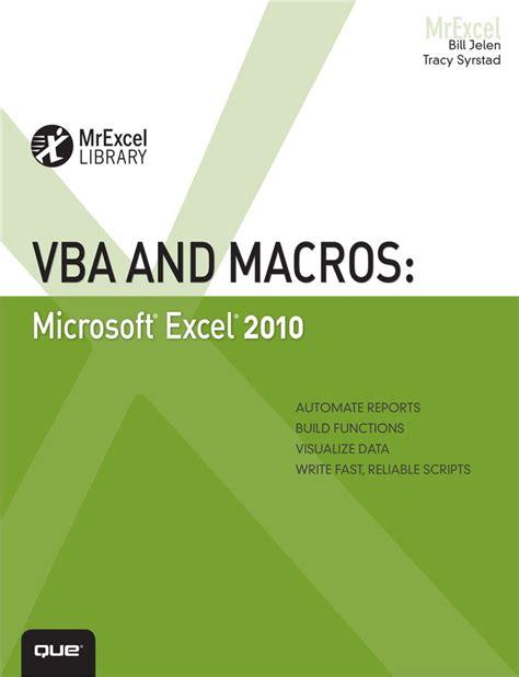vba and macros microsoft excel 2010 informit