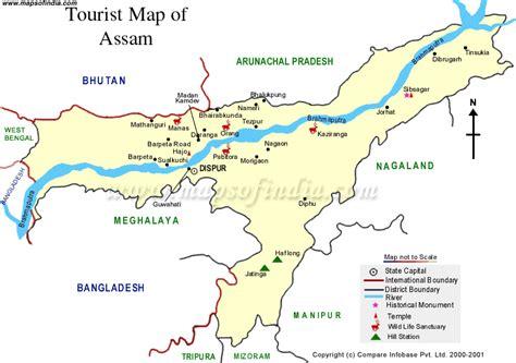 cyber guwahati tourist map  assam