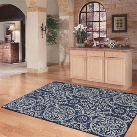 NEW MEDALLION MODERN AREA RUG GREY BLUE NAVY SILVER Living