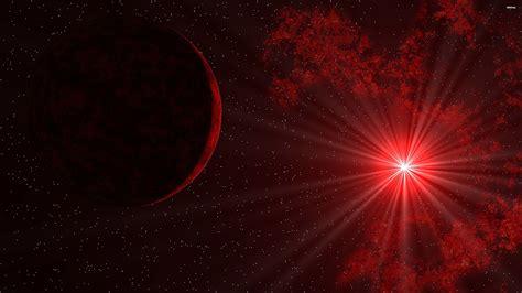 49694 Sun Shining Through Red Space 3840x2160 Space