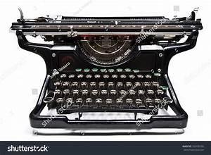 Antique Manual Underwood Typewriter On White Stock Photo