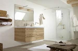 une salle de bain design zen leroy merlin With carrelage adhesif salle de bain avec effet lumineux led