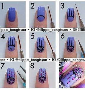 Nail art step by designs