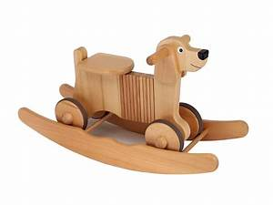 wooden rocking and ride on dog toy by hibba toys of leeds