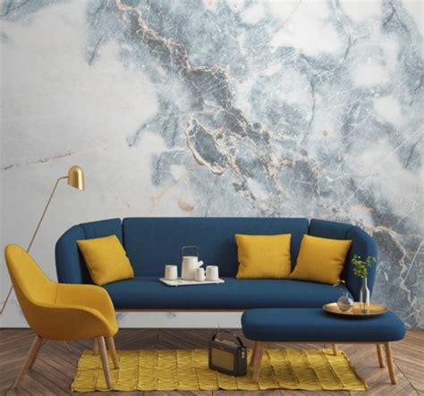 papier peint chambre à coucher adulte 1001 idées créer une déco en bleu et jaune conviviale