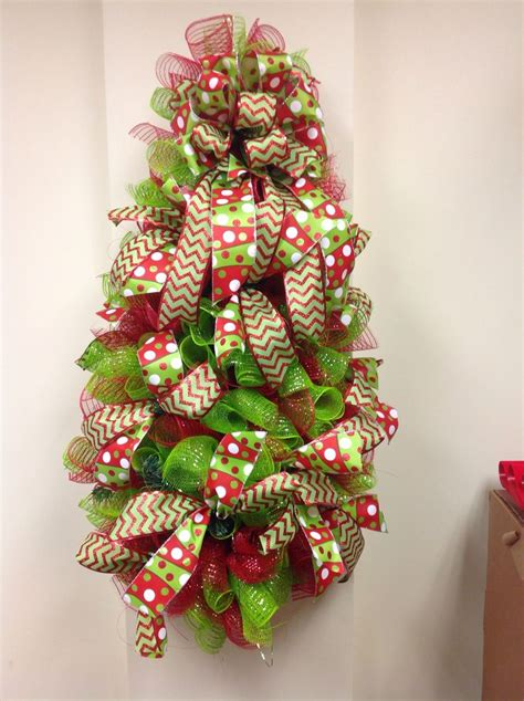 mesh teardrop christmas tree christmas pinterest