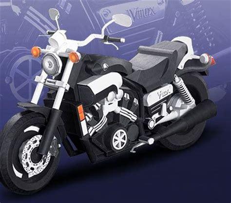paper motorcycle vmax yamaha motor