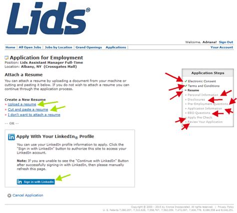 Uploading A Resume To The Common App by Lids Application Lids Career Guide Application Review