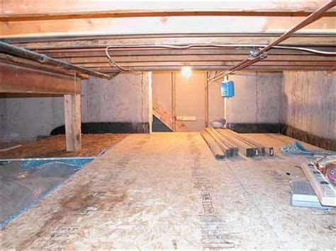 Basement Crawl Space   FINALLY finished!
